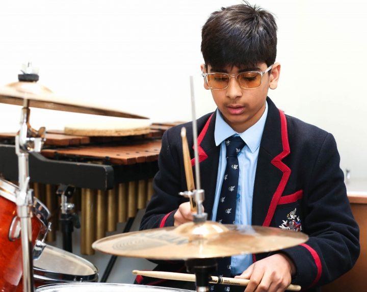 Swanbourne House School Pupil Drumming Success